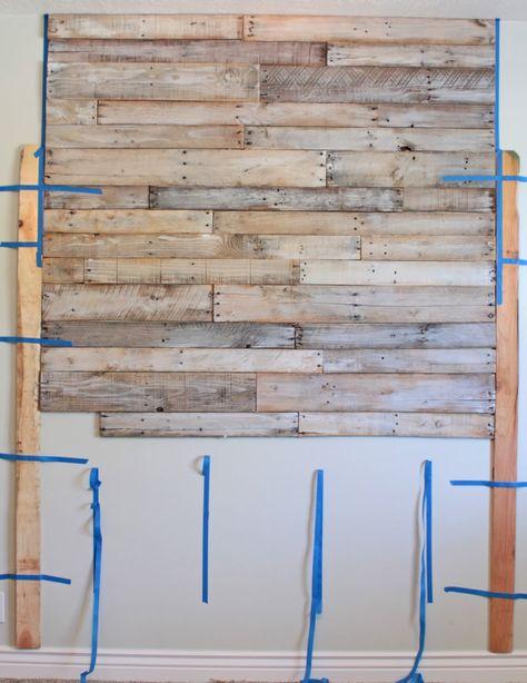 Pallet headboard project