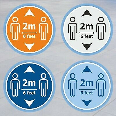 SOCIAL DISTANCING 2 metres apart LAMINATED SIGNS in many sizes