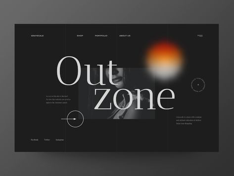 Out Zone - Website Concept for 404 Page / Internal clients