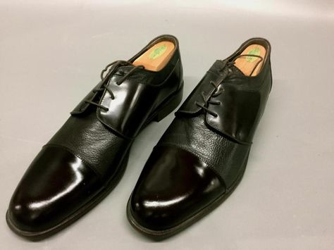 7162d7f5ffe SAN REMO MENS ITALIAN DRESS SHOES~OXFORDS~SIZE 13M~BLACK CAP TOE GOOD  CONDITION  SANREMO  Oxfords