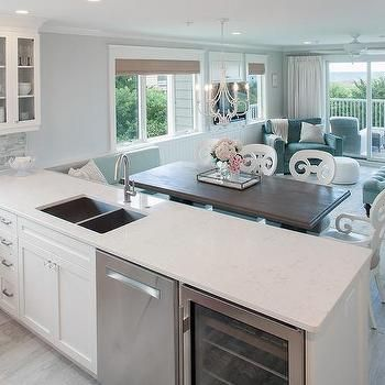 Wine Cooler And Dishwasher In Kitchen Peninsula Open Concept Kitchen Kitchen Design Small Space Kitchen Peninsula
