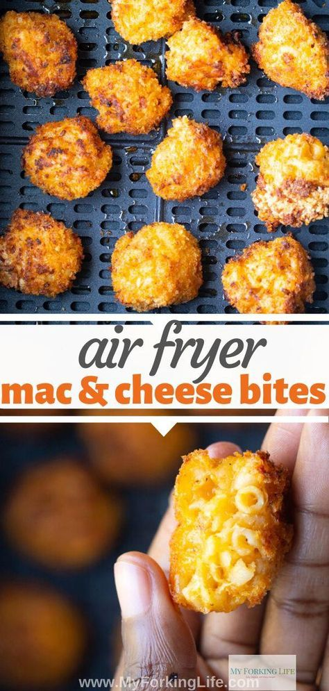 air fryer recipes healthy for you #Food Air Fryer Oven Recipes, Air Frier Recipes, Air Fryer Dinner Recipes, Air Fryer Recipes Appetizers, Air Fryer Recipes Breakfast, Yummy Appetizers, Fried Macaroni And Cheese, Queso Frito, Mac And Cheese Bites