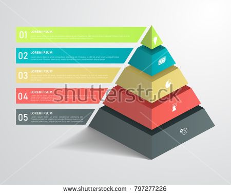 3d Pyramid Infographic Template For Business Education Web