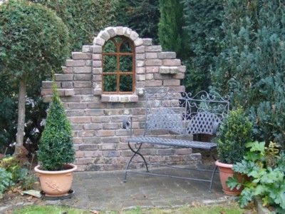 dachziegel recycling - Google-Suche garten Pinterest - sitzplatz im garten mit steinmauer