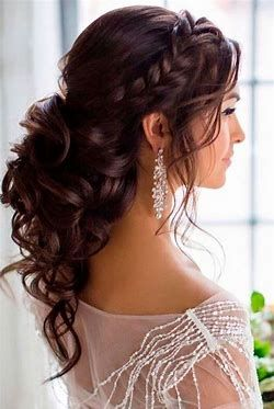 Image Result For Best Hairstyles For Off The Shoulder Dresses Long Bridal Hair Hair Styles Long Hair Styles