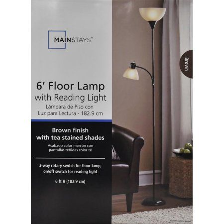 Home Mainstays Flooring Led Floor Lamp