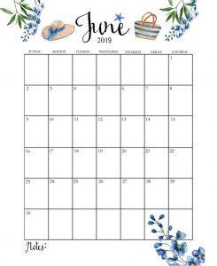 Blank June 2019 Calendar Templates Free Printable Calendar