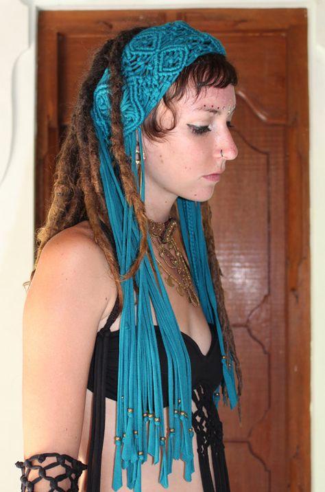 Macrame headband by kayoanimeclothing on Etsy, $70.00