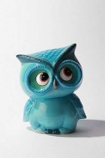 Leo the Owl Bank...aawww look at his eyes