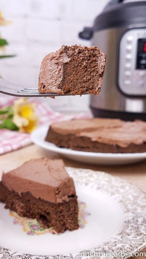 Photo of Low-Carb Instant Pot Chocolate Cake + VIDEO