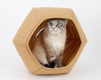 Heated Cat Pod House 2 Doors Ships Next Bus Day Etsy Cat Pod Modern Cat Cat Ball