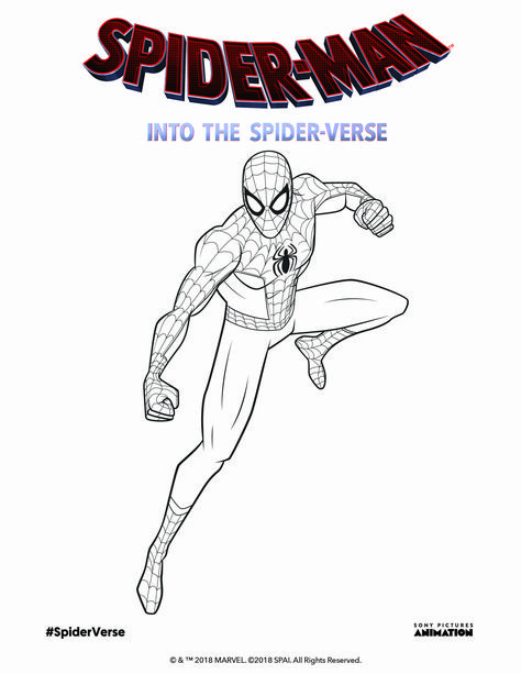 Spider Verse Coloring Page