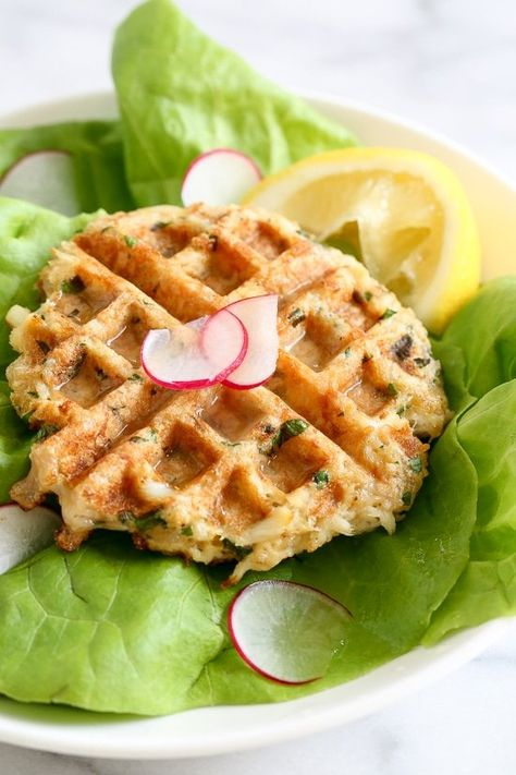 Dust off that waffle machine to make these fast and delicious Waffled Crab Cakes! This is so genius you're going to wonder why you haven't thought of this sooner. The crab cakes cook perfectly in the center, with golden edges in less than 3 minutes! And you get perfect little square pockets to hold the lemon juice or tartar sauce.