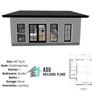 361 Square Foot Studio House Design Plans For Sale Pdf Dwg Files Instant Download In 2021 Small House Design Plans House Construction Plan House Plans For Sale