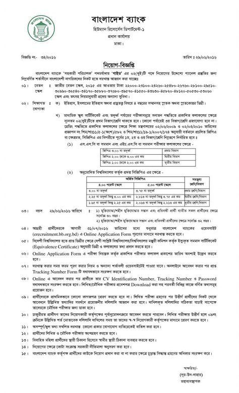 Bangladesh Bank Assistant Director Job Circular 2016 - unit supply specialist sample resume