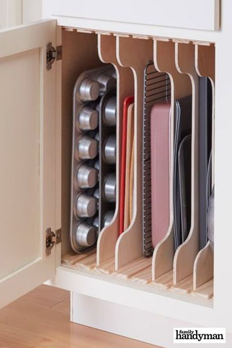 Home Interior Diy Kitchen Cabinet Organizers: DIY Dividers.Home Interior Diy Kitchen Cabinet Organizers: DIY Dividers Kitchen Pantry Design, Kitchen Cabinet Organization, Home Decor Kitchen, New Kitchen, Home Kitchens, Cabinet Ideas, Kitchen Organizers, Minimal Kitchen, Kitchen Decorations