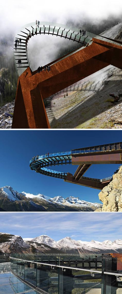 Brewster's Discovery Walkway (Canada). I'm afraid of heights, but I'd say this would be worth checking out o: Makes for a good excuse to revisit Jasper National Park (wasn't around when I went the first time)