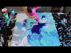 Fluid Painting With A Hair Dryer Phalo Ripples Youtube Fluid