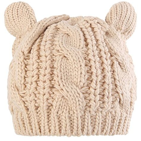 5a6ff6a88f3 Novawo Lovely Cat Ear Beanie Hat Winter Warm Knit Hats Slouchy Beanie for  women     Click image to review more details. (This is an affiliate link)
