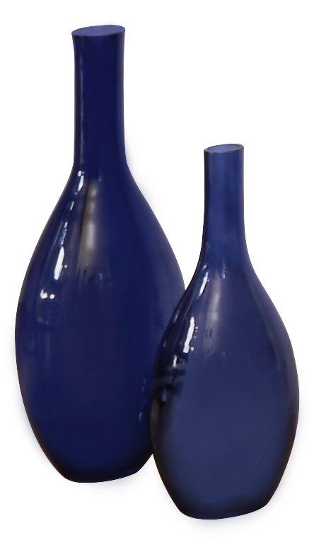 Vase Bleu Nuit En Verre Souffle Carrefour Home Verre Souffle Maison Produits