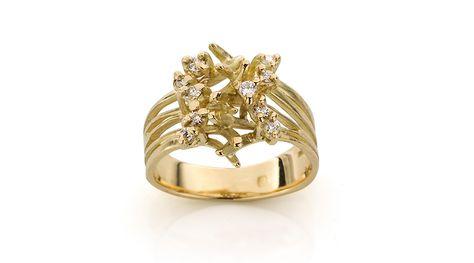Gouden Zilveren Diamant Verlovingsring Verlovingsringen
