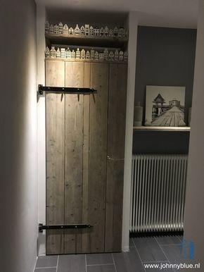 Kastdeur Gebruikt Steigerhout Dat Is Behandeld Met Een Grey