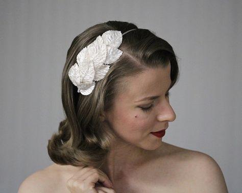 Ladies Mesh Big Flower Pearl Wrapped Wedding Metal Hair Alicebands Racing