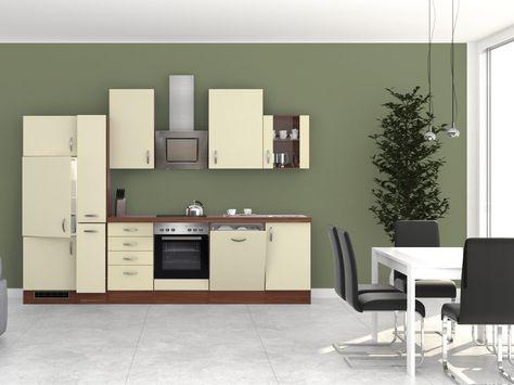 Küchenblock Sienna Zwetschge Creme Mit E Geräten 310 Cm