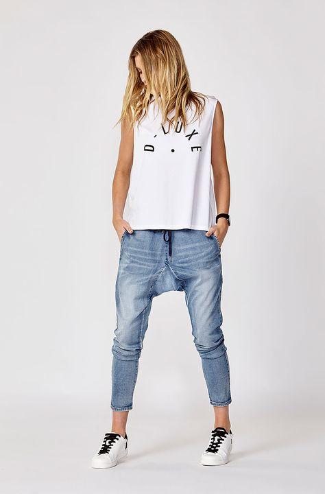 D: Luxe by Decjuba. Shop our D:Luxe Tee & Fleur Drop Crotch Jeans.