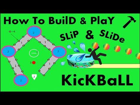 Slip N Slide Kickball Must Be Your Next Summer Activity Playrs Club Slip And Slide Kickball Kickball Party Slip And Slide