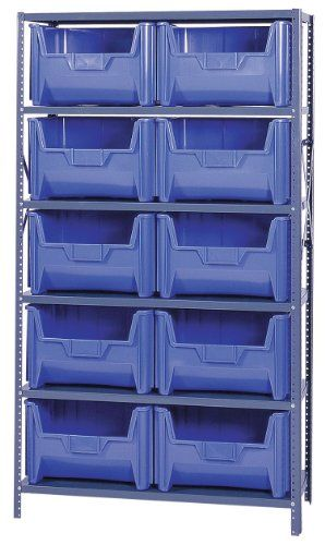 Giant Stack Container Shelf Storage Systems With Bins Dimensions 12 1 2 Storage System Storage Bins Bins
