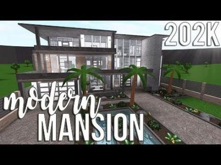 16 Ideas Roblox Bloxburg House Ideas Exterior In 2020 House Exterior Modern Mansion Mansions