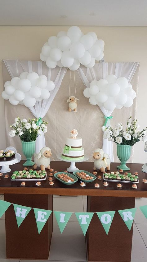 Super Baby Shower Boy Balloons Gender Reveal Parties 62 Ideas In 2020 Sheep Baby Shower Decoracion Baby Shower Baby Shower Themes Neutral