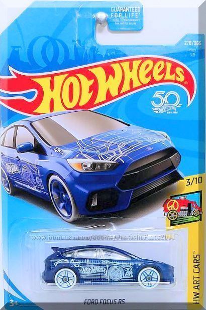 Blue W Gray Interior Clear Windows White And Light Blue Vehicle Blueprint Graphics On Sides Hood And Roof The Letter Hot Wheels Ford Focus Ford Focus Rs