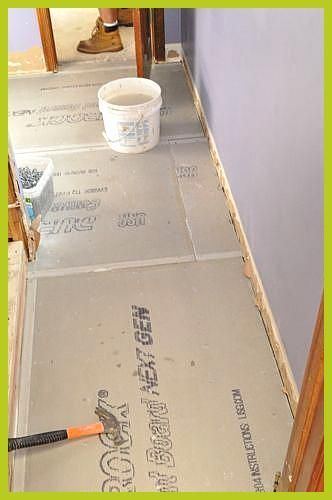 How To Install Cement Board Cbu For Floor Tile Tile Subfloor Thickness Deflection Installing Electric Radiant Heat Pouring Self Leveling Mortar Leveli In 2020 Tile Floor Diy Tile Floor Tiles