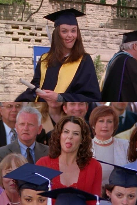 """17 Of The Best Things Lorelai Ever Taught Rory On """"Gilmore Girls"""" 17 Of The Best Things Lorelai Ever Taught Rory On """"Gilmore Girls""""<br> """"If you're going to throw your life away, he'd better have a motorcycle. Mode Gilmore Girls, Gilmore Girls Quotes, Gilmore Girls Lorelai, Gilmore Girls Funny, Gilmore Girls Poster, Gilmore Girls Fashion, Stars Hollow, Estilo Rory Gilmore, Rory Gilmore Style"""