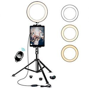 10 2 Inch Ring Light With Stand Saveyour Selfie Led Ring Light With Tripod Cell Phone Holder Pad Holder For Live Gift Advisor In 2020 Ring Light With Stand