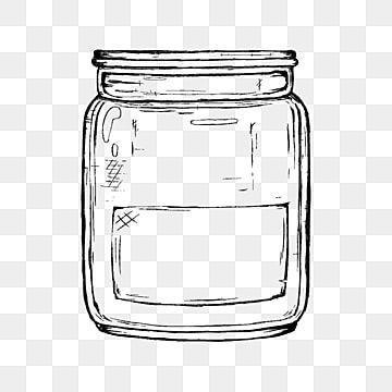 Frasco De Vidrio Transparente De Boceto De Linea Dibujada A Mano Clipart De Vidrio Tarro Botella Png Y Psd Para Descargar Gratis Pngtree In 2021 How To Draw Hands Glass