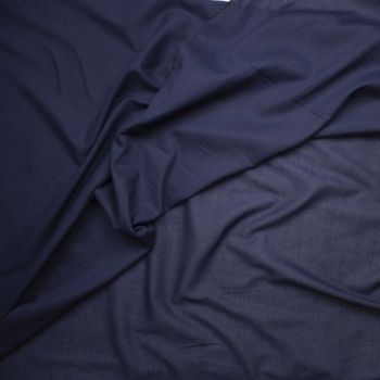 Navy Blue Cotton Lawn Fabric By The