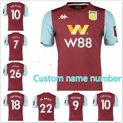 Advertisement Ebay New 2019 2020 Aston Villa Home Soccer Jersey Short Sleeve Custom Name Number Jersey Shorts Soccer Jersey Jersey