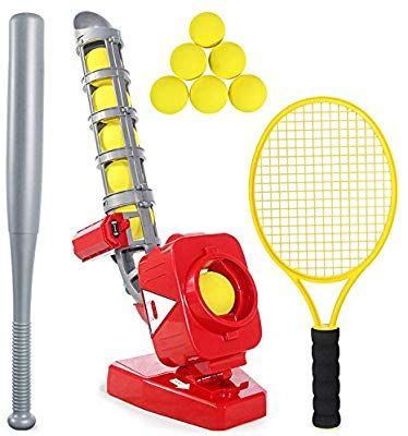 Amazon Com Heytech Baseball Tennis Pitching Game Machines Training Learning Early Development Active Toys Outdoors Sports G Tennis Tennis Serve Tennis Trainer