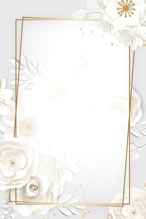 Rectangle paper craft flower frame template illustration | premium image by rawpixel.com / Adj