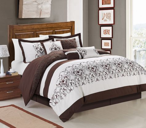 This Traditional Heavy Embroidered Bed Features A Quilted