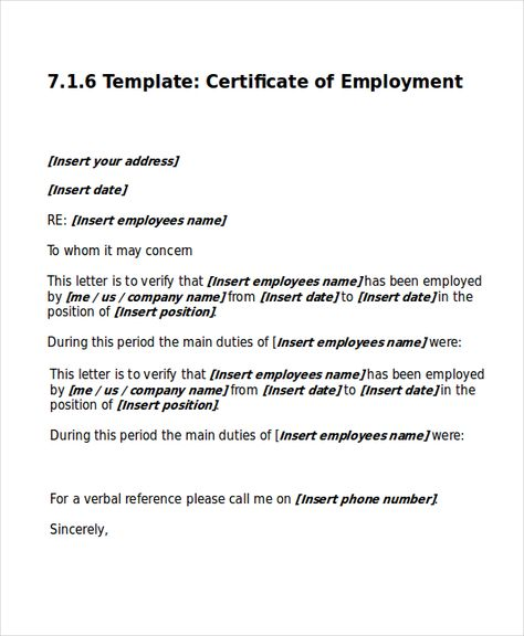 work certificate template free word excel pdf documents download - employment certificate sample