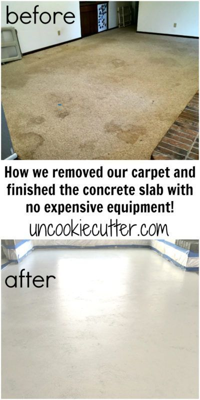 Polished Concrete How I Got My Slab Ready For Paint Uncookie Cutter Painted Concrete Floors Concrete Stained Floors Concrete Basement Floors