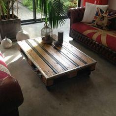 Table Basse En Palette Style Industriel Table Basse Palette Table Basse Mobilier De Salon