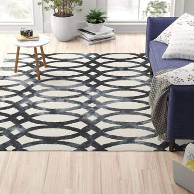 Zipcode Design Edie Cotton Wool Graphite Area Rug Zipcode Design