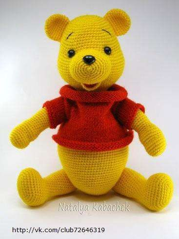 Crochet pattern Winnie the Pooh PDF ENGLISH Cotton & | Etsy | 489x367