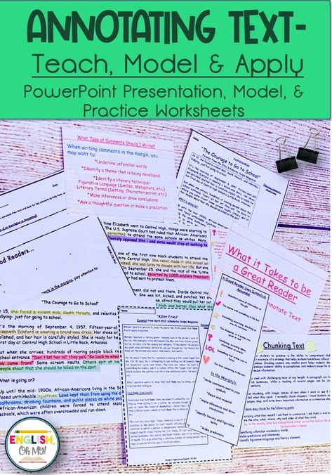 Teaching Students to Annotate Text
