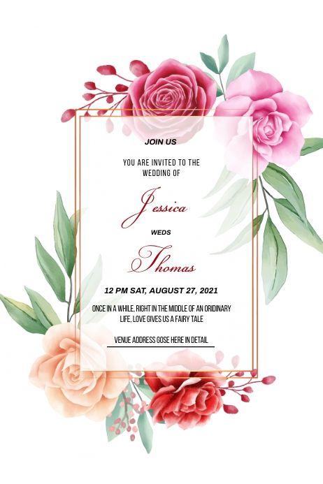 Wedding Card In 2021 Wedding Invitation Templates Wedding Invitations Invitations